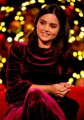 Jenna Coleman on the Graham Norton Show along with Will Smith and Jamie Oliver in London