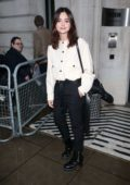 Jenna Coleman spotted outside BBC Radio 2 for an appearance on the Chris Evans Breakfast Show in London