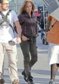 Jennifer Garner on the set of 'Peppermint' in Los Angeles