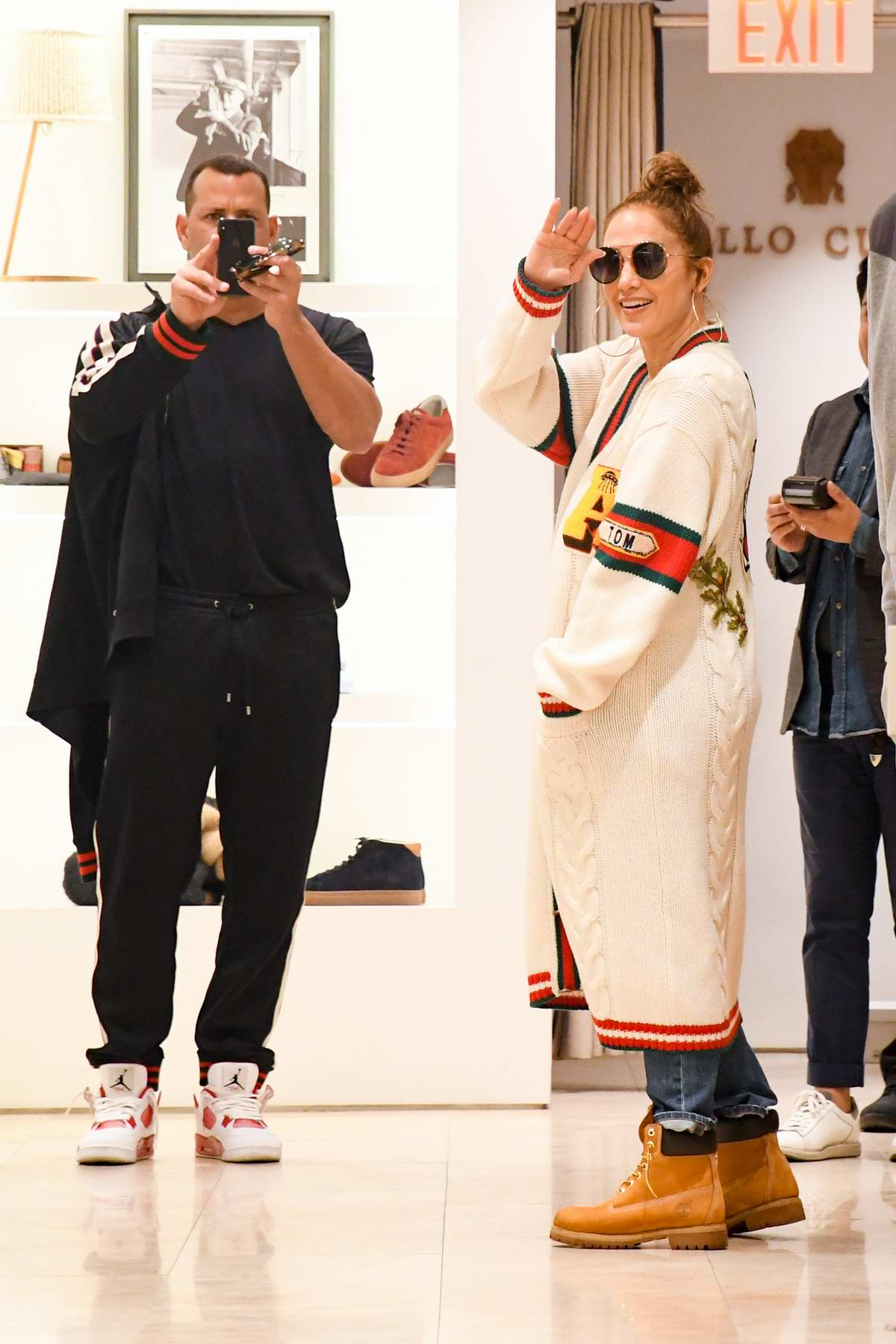 Jennifer Lopez and Alex Rodriguez are seen shopping in Los Angeles