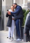 Jennifer Lopez and Alex Rodriguez spends some time together before heading to work,New York