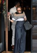 Jennifer Lopez and Alex Rodriguez step out for lunch at South Beverly Grill in Beverly Hills, Los Angeles