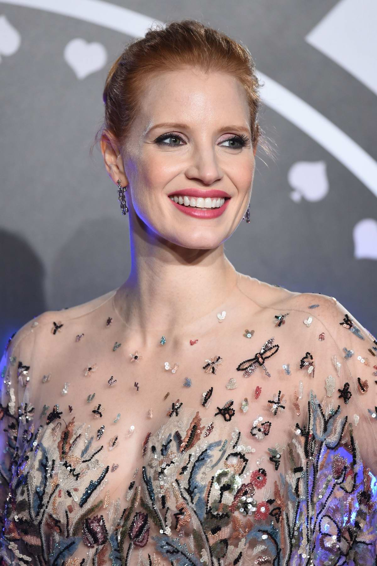 Jessica Chastain at the premiere of Molly's Game in London