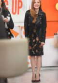 Jessica Chastain on the set of the 'Today Show' in New York
