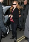 Jessica Chastain spotted as she arrives at Claridges in London