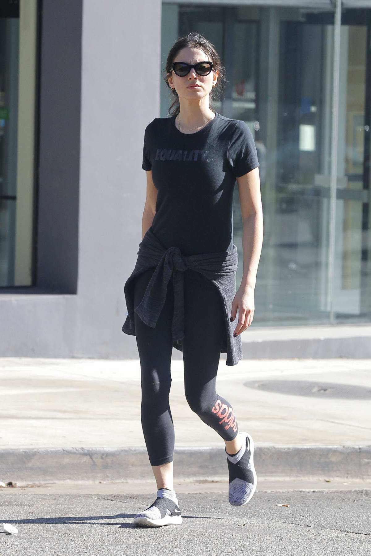 Jessica Gomes leaving after her workout sessions in Beverly Hills, Los Angeles