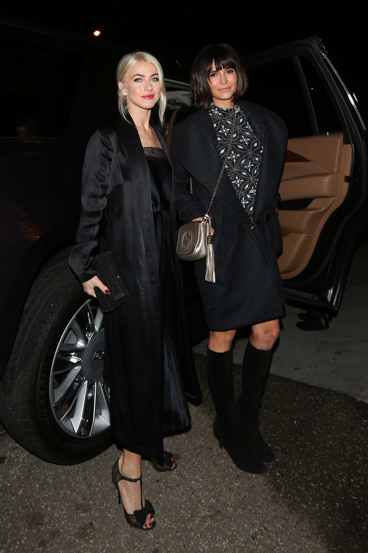 f19bb66dc8 Julianne Hough and Nina Dobrev attend a house party together in Los Angeles