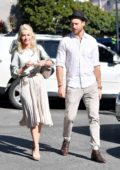 Julianne Hough leaving a Church services with her husband in Los Angeles