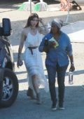 Justin Timberlake directs wife Jessica Biel on the set of a untitled music video project in Los Angeles