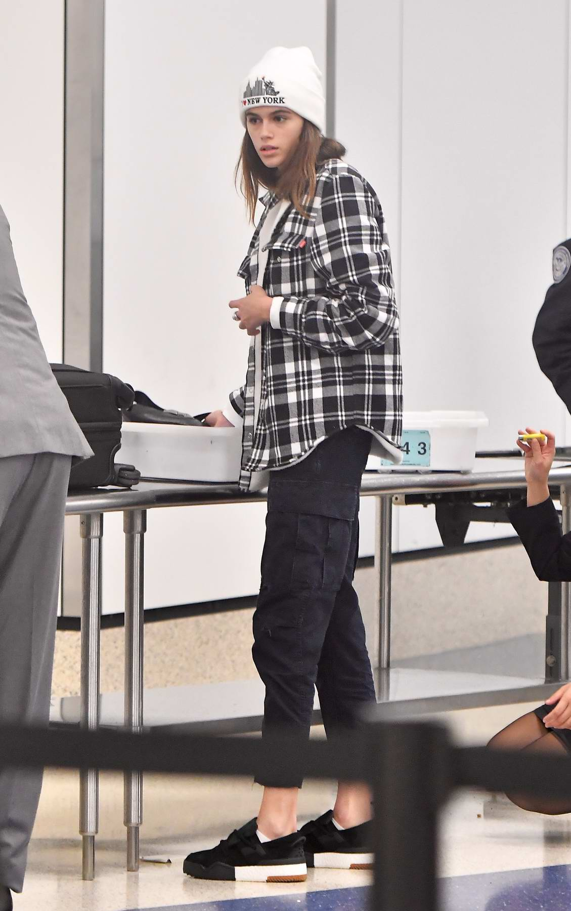 Kaia Gerber sports some casual attire at LAX airport, Los Angeles