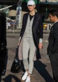 Karlie Kloss spotted arriving off a flight from Dallas into Heathrow airport in London