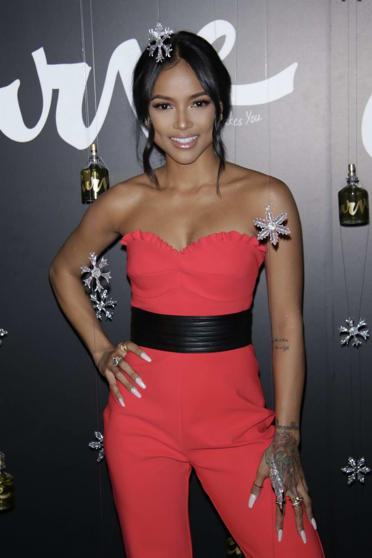 Karrueche Tran at Curve Fragrances for Men Holiday Party in New York City