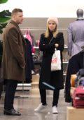 Kate Mara and Jamie Bell go shopping in Manhattan's Soho neighborhood, New York City
