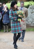 Kate Middleton at the Royal Family's Christmas Day service on the Sandringham estate in eastern England, UK
