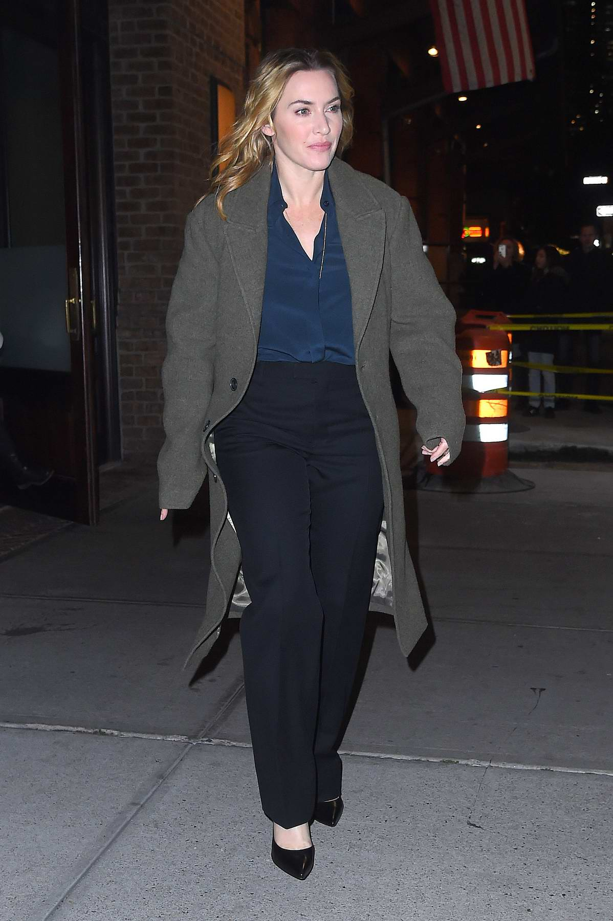 Kate Winslet leaving her hotel in New York City