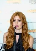 Katherine McNamara attending a press conference at Comic Con Portugal in Porto, Portugal