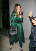 Katherine Schwarzenegger in a green outfit seen out and about in Los Angeles