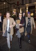 Katy Perry enjoys a night out with friends in Copenhagen, Denmark
