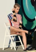 Katy Perry spotted in a bunch of assorted outfits during a photoshoot in the Wynwood Arts District in Miami, Florida