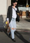 Kendall Jenner heads out from lunch at the Blu Jam Cafe in Calabasas, California