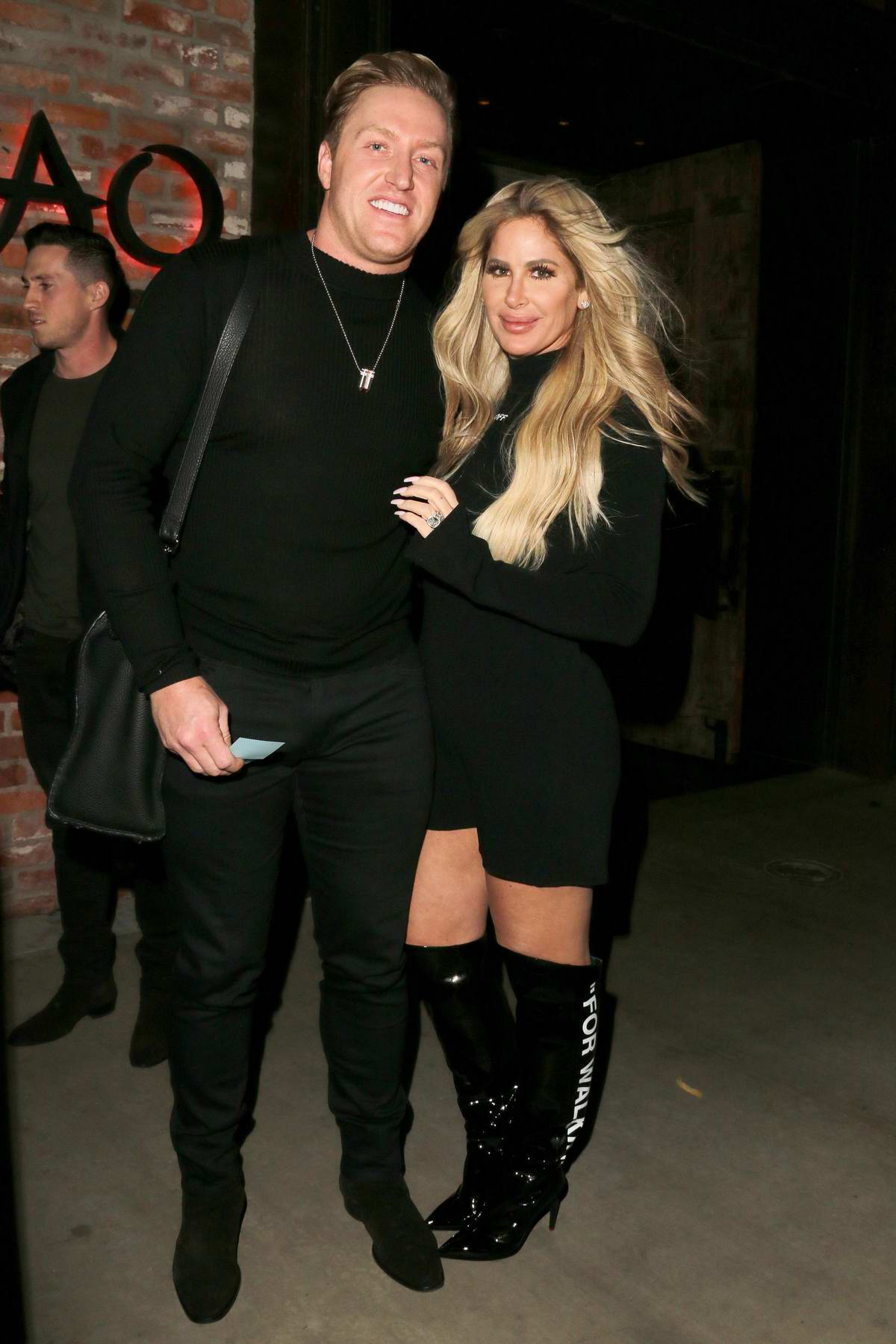 Kim Zolciak and husband Kroy Biermann leaves TAO in Hollywood, Los Angeles