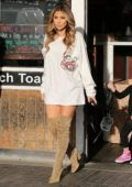 Larsa Pippen leaving after lunch at the Blu Jam Cafe in Calabasas, California