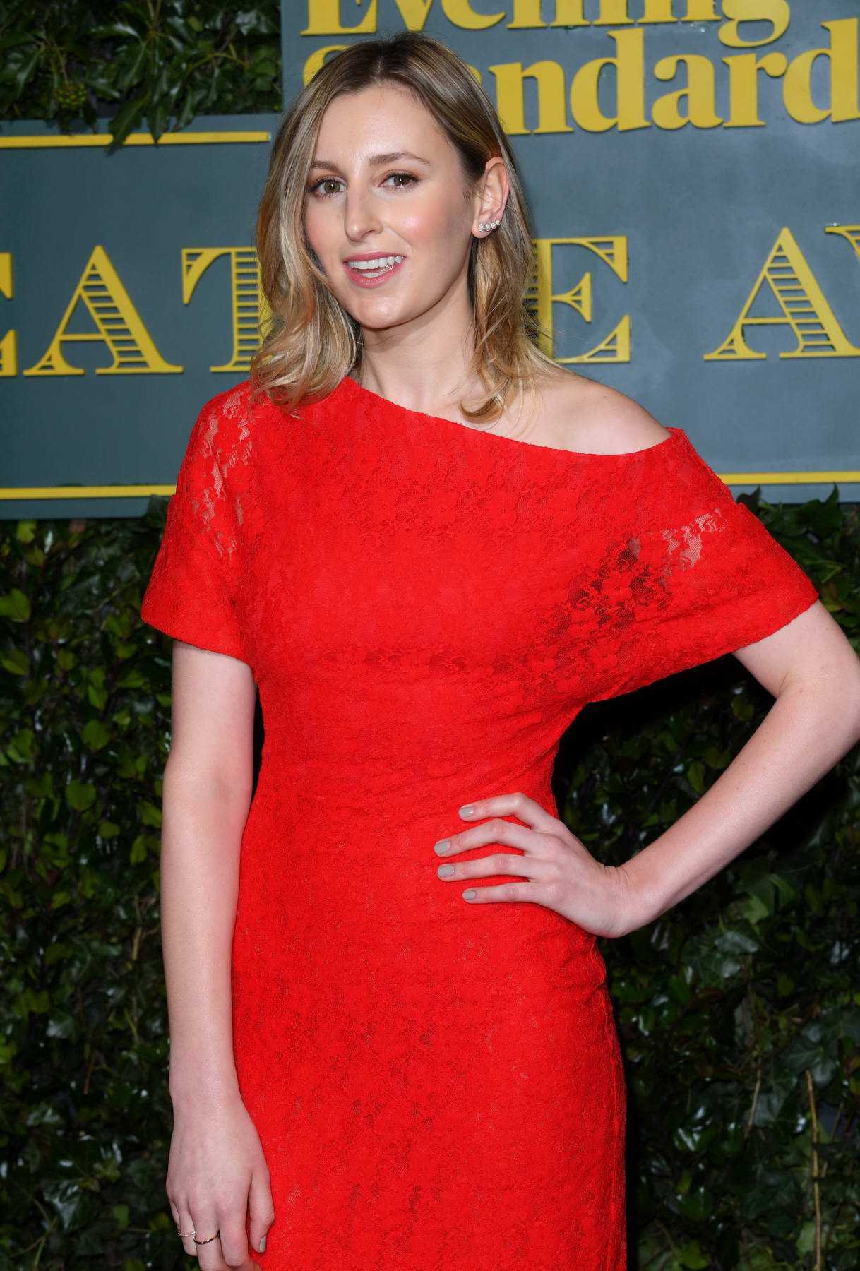 Laura Carmichael at the Evening Standard Theatre Awards in London