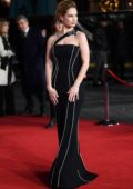 Lily James attends Darkest Hour premiere in London