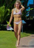 Lindsay Arnold in a pink bikini hits the beach in Hawaii