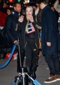 Lindsay Lohan arriving at Madison Square Garden for the Jingle Ball concert in New York