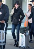 Lindsay Lohan makes rare appearance in the US as she is spotted arriving to JFK airport in New York