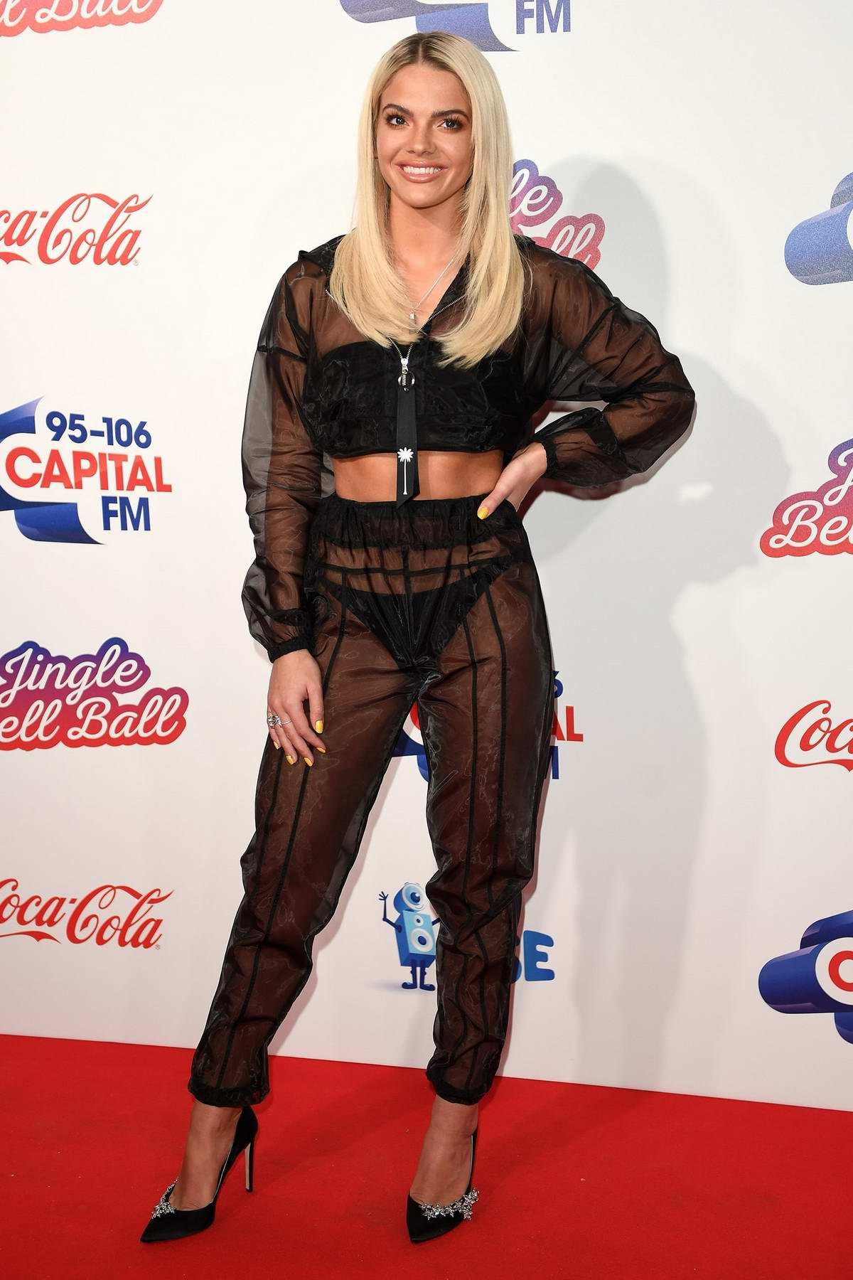 Louisa Johnson at Capital's Jingle Bell Ball at the O2 Arena in London