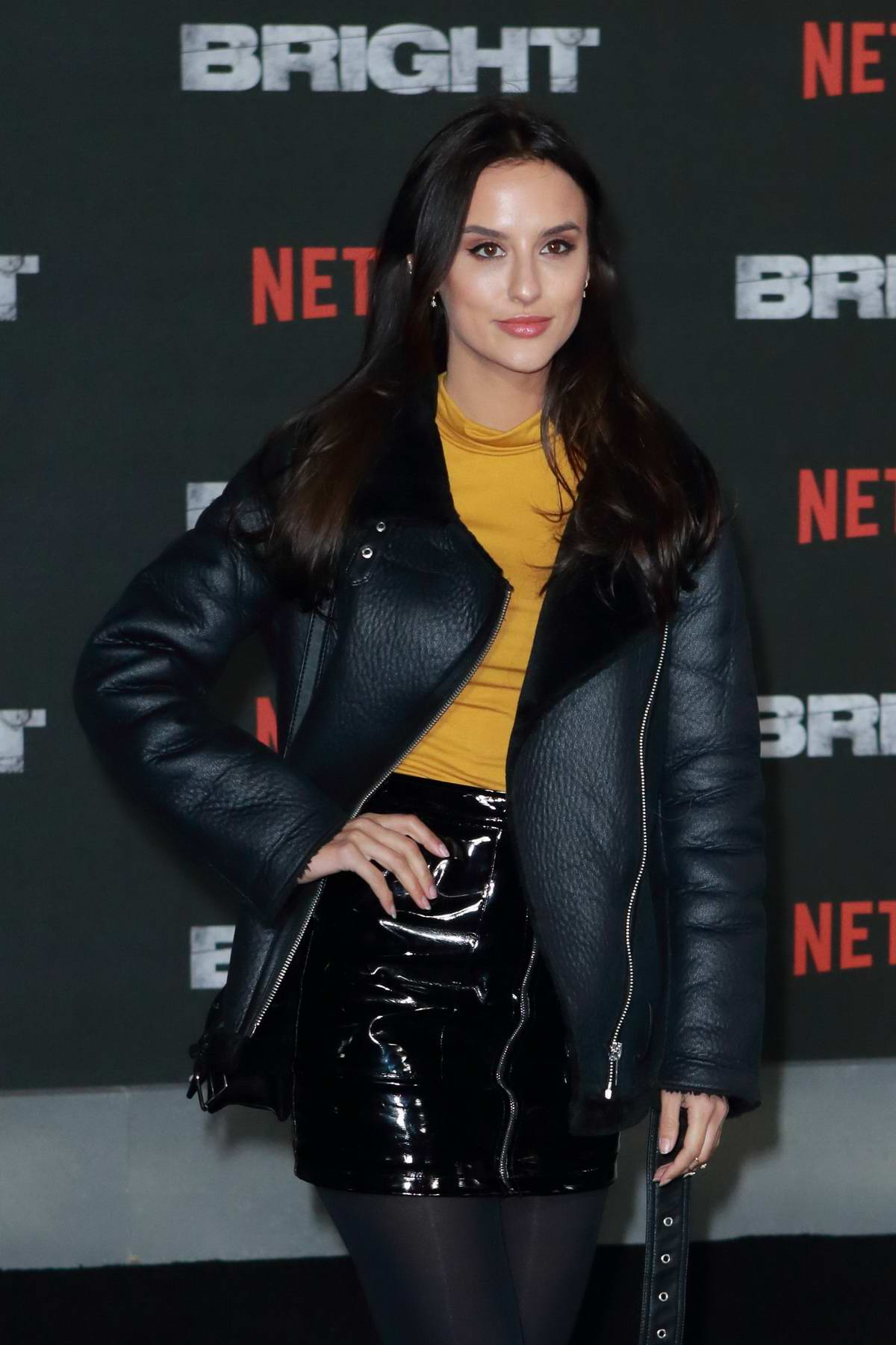 Lucy Watson at UK film premiere of 'Bright' held at BFI Southbank in London