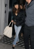 Maggie Q and Dylan McDermott leaving Craig's restaurant in West Hollywood