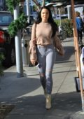 Mara Teigen goes Christmas shopping in Beverly Hills, Los Angeles