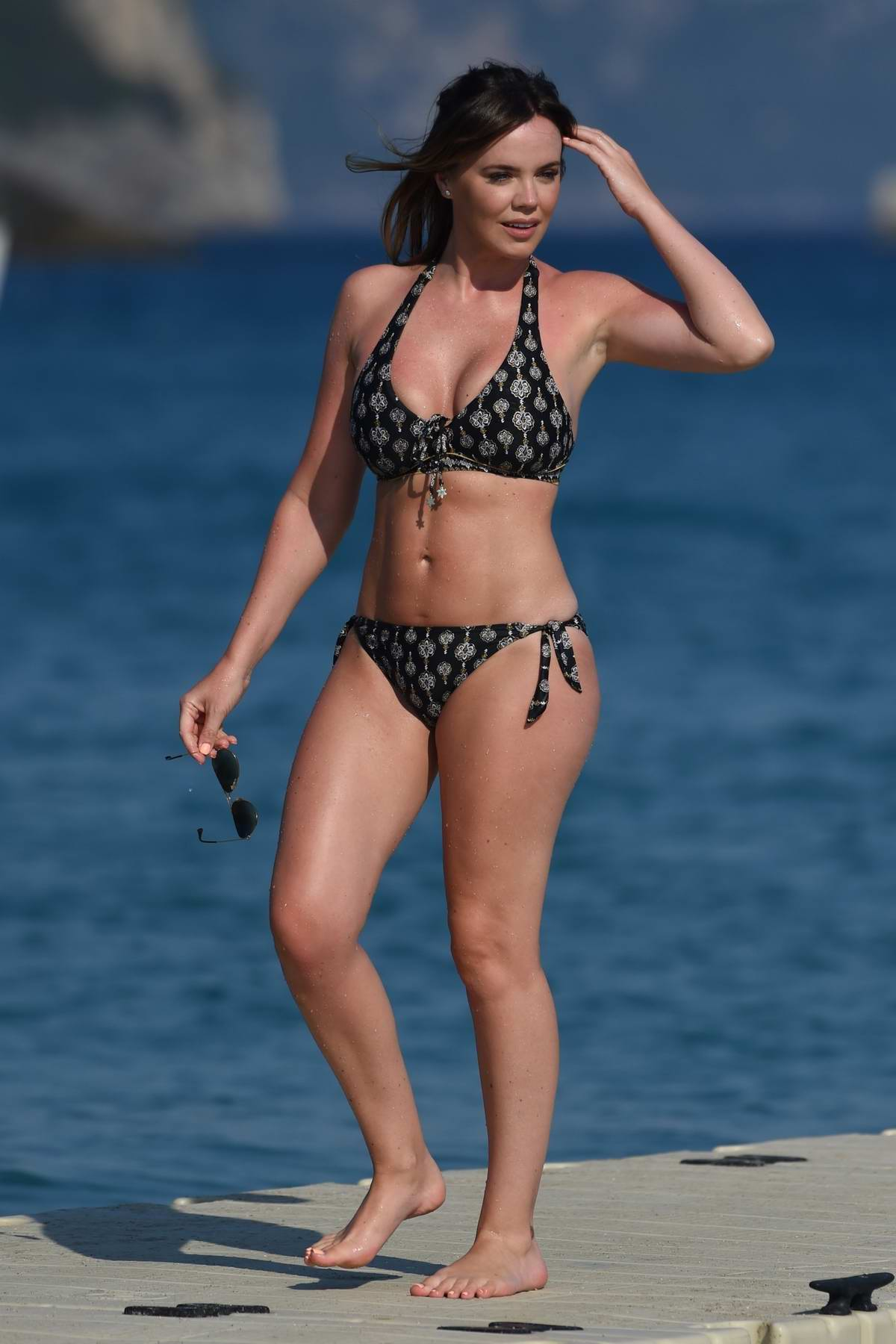Maria Fowler in a bikini relaxing at the beach during holiday in Cape Verde