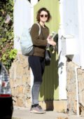 Mary Elizabeth Winstead leaves Ewen McGregor's home early in the morning, Los Angeles
