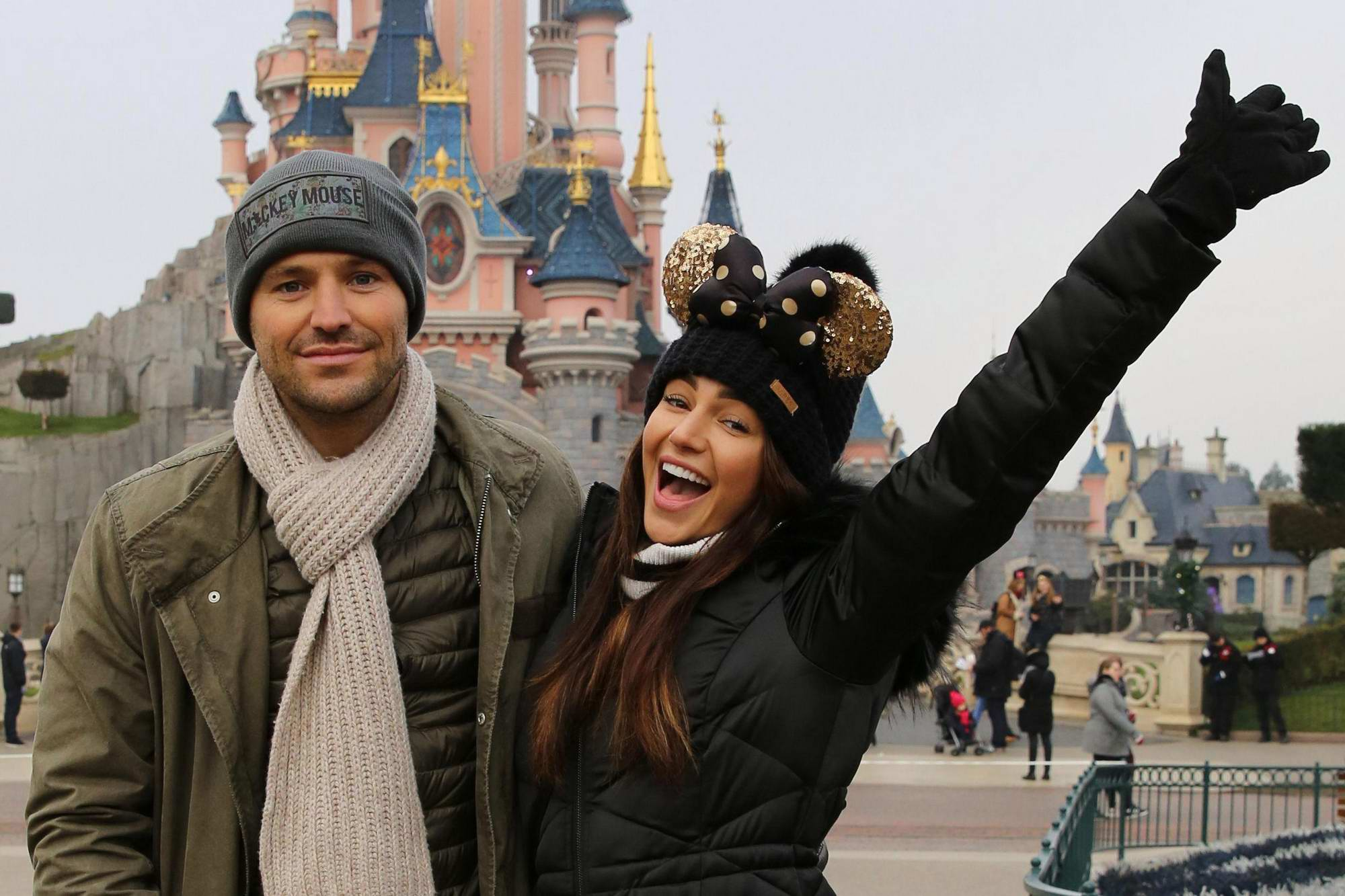 Michelle Keegan and Mark Wright enjoys a day in Disneyland in Paris, France