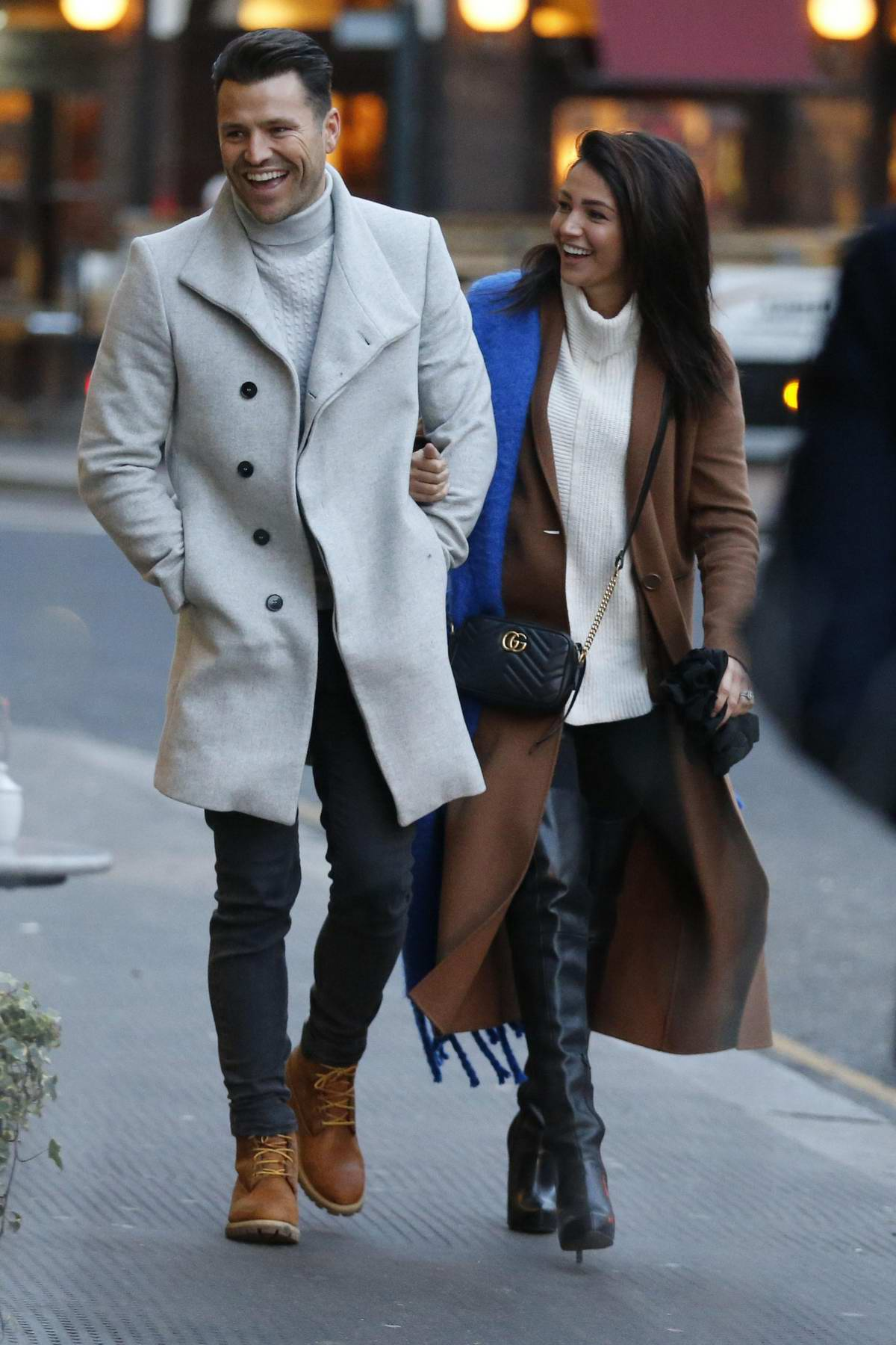 Michelle Keegan and Mark Wright out for some Christmas shopping in London