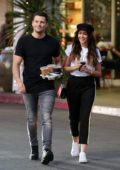 Michelle Keegan and Mark Wright stop for some iced coffees at Teavana in Los Angeles