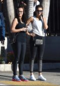 Michelle Keegan out for a morning walk with friends in Los Angeles