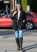 Milla Jovovich out for a last minute Christmas shopping in West Hollywood, Los Angeles