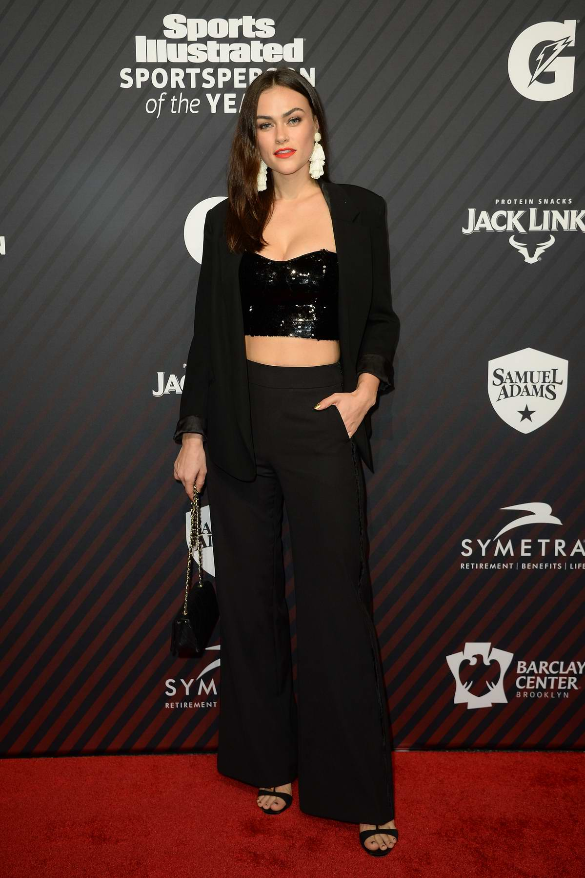 Myla Dalbesio at the Sports Illustrated Sportsperson of the Year Awards at Barclay Center in New York