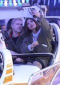 Myleene Klass seen enjoying herself along with her new boyfriend at Winter Wonderland in London