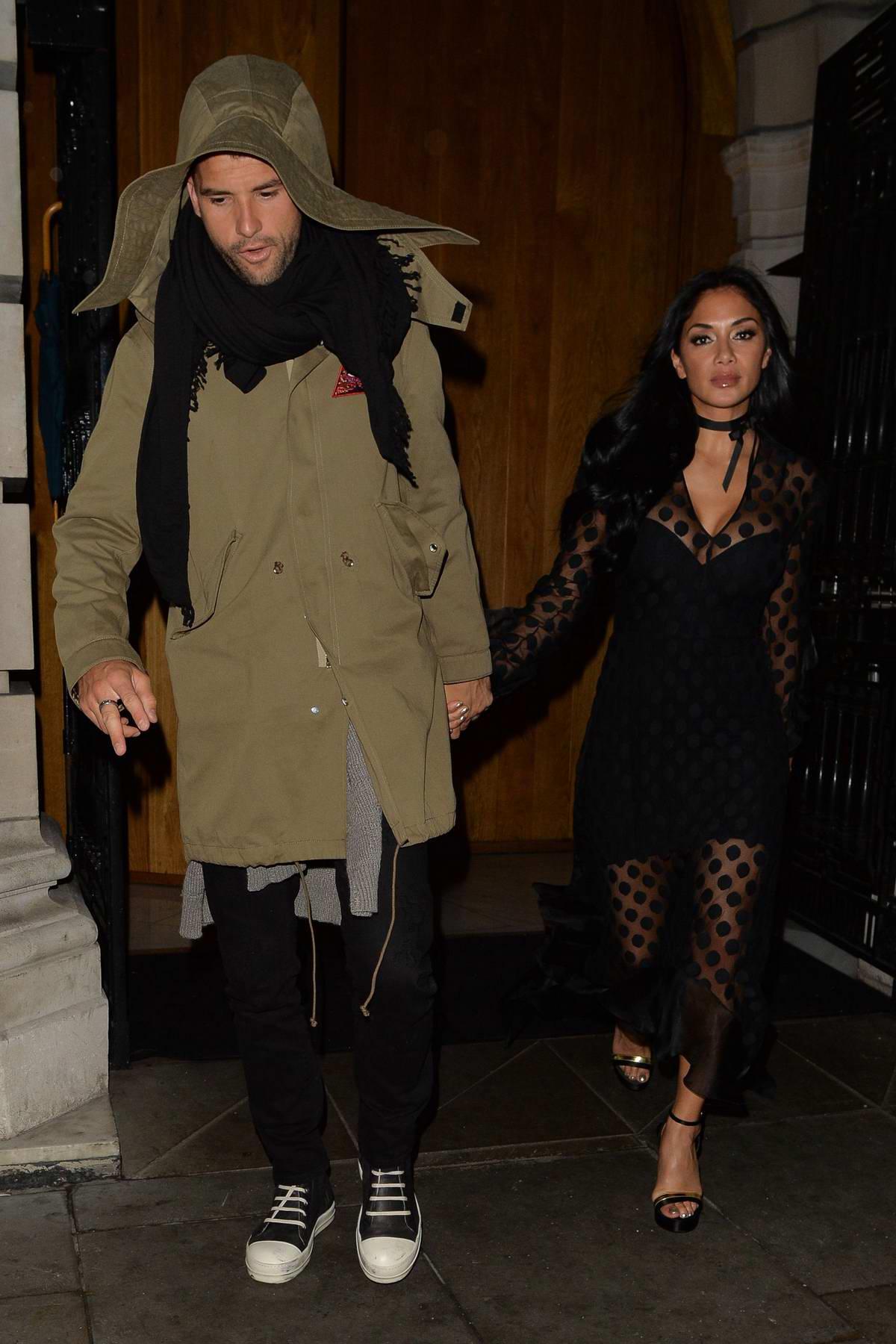 Nicole Scherzinger and boyfriend Grigor Dimitrov at Milo restaurant in London
