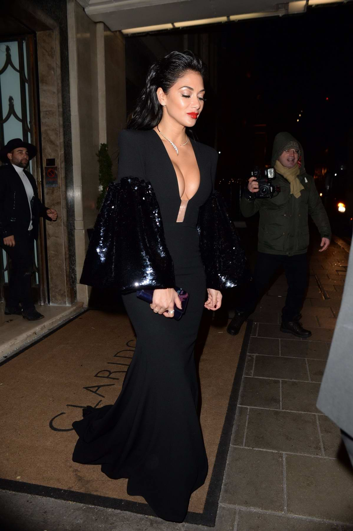 Nicole Scherzinger leaving Brilliant Is Beautiful - VIP Gala fundraiser in London