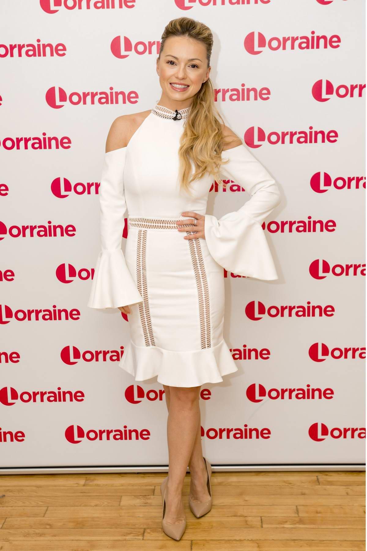 Ola Jordan makes an appearance on Lorraine TV show in London