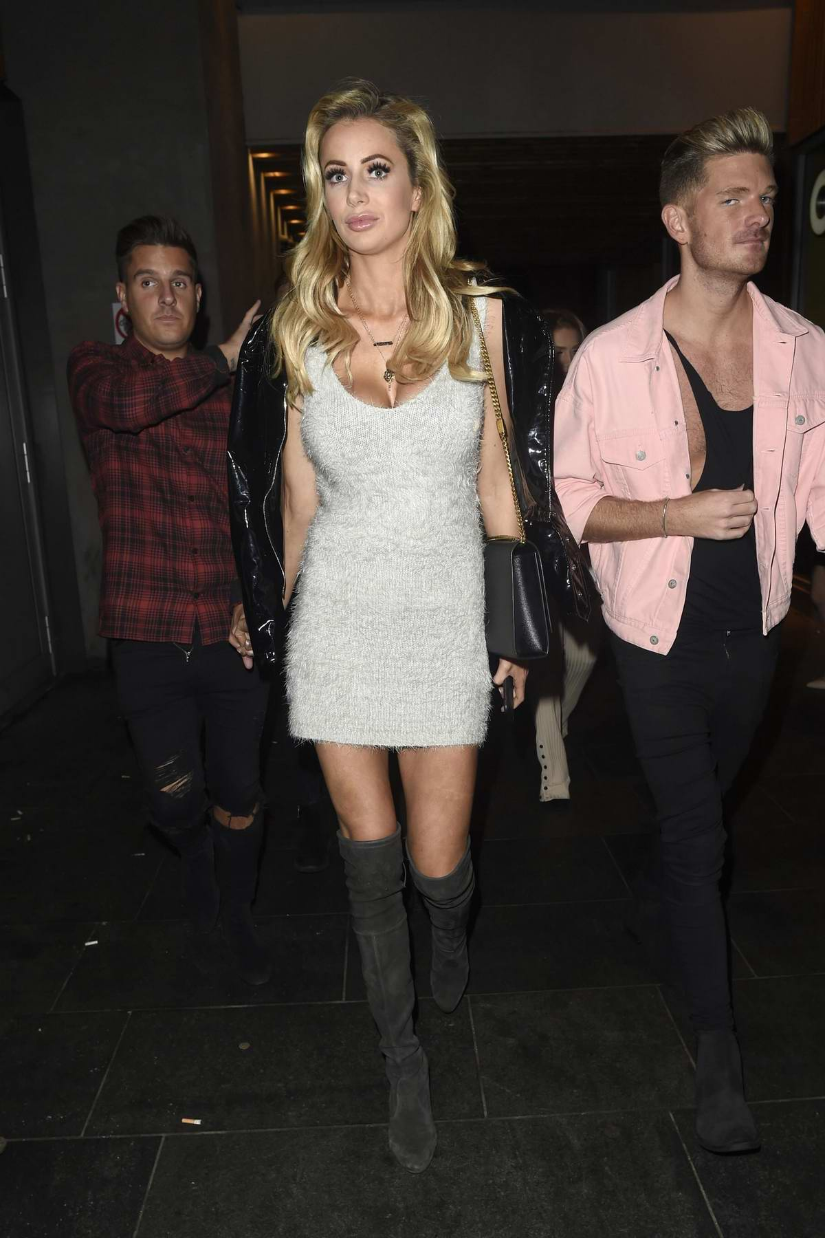 Olivia Attwood enjoying a night out at Neighbourhood Bar and Restaurant in Manchester, UK