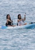 Olivia Munn hits the ocean in a kayak while on vacation in Hawaii