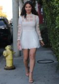 Olivia Munn leaving the Lucques restaurant after the Chloe Gosselin luncheon in Beverly Hill, Los Angeles